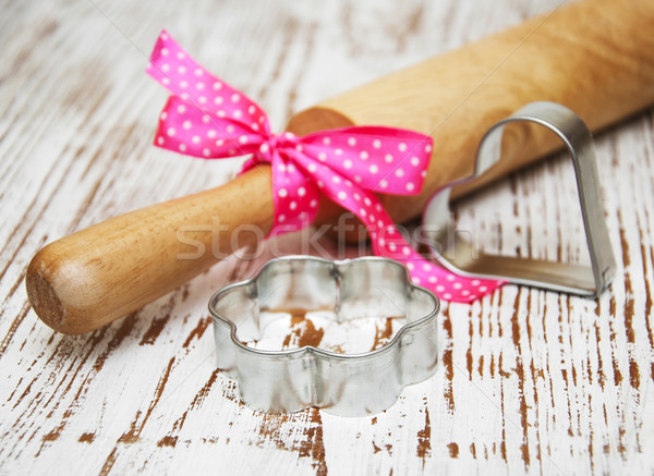 Cookie скалка продовольствие фон металл Сток-фото © Es75