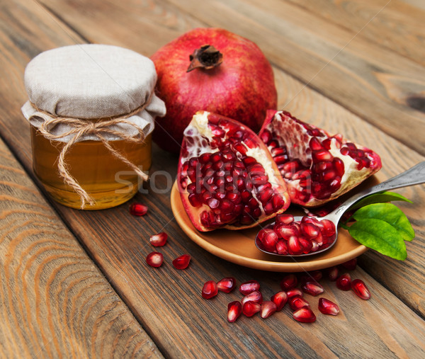 Honey with pomegranate Stock photo © Es75