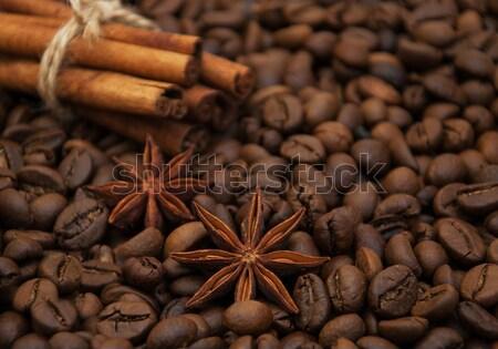 roasted coffee and cinnamon sticks Stock photo © Es75