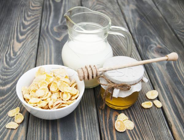 Muesli with milk and honey Stock photo © Es75
