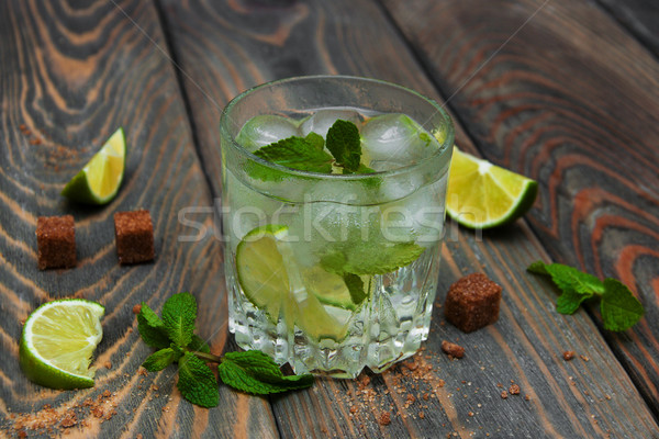 Cold fresh lemonade drink Stock photo © Es75