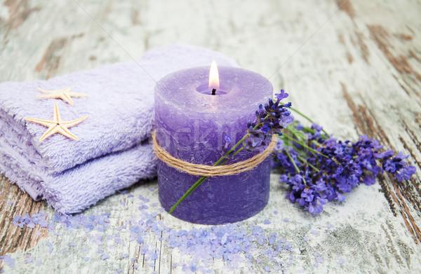 Lavanda estância termal produtos flores flor Foto stock © Es75