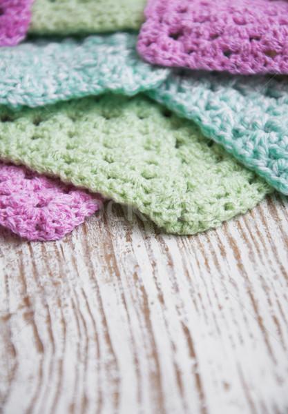 трикотажный подробность вязанье бабушка пространстве Сток-фото © Es75