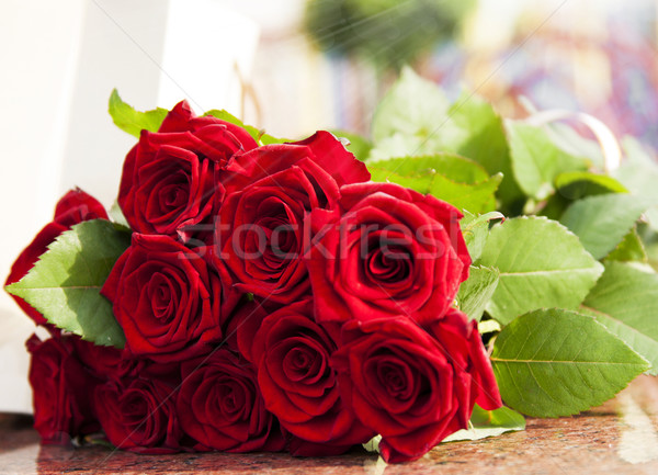 Large Red rose bouquet Stock photo © Es75