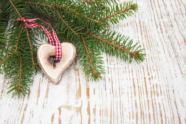 Pino rama verde Navidad cookie madera Foto stock © Es75