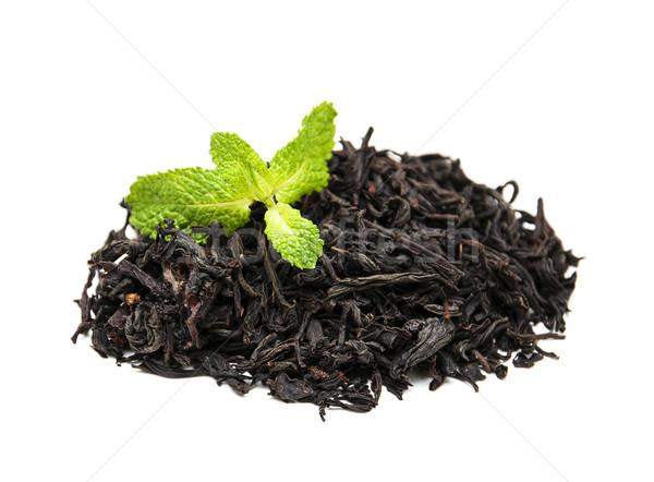 Preto chá de folha branco comida Foto stock © Es75