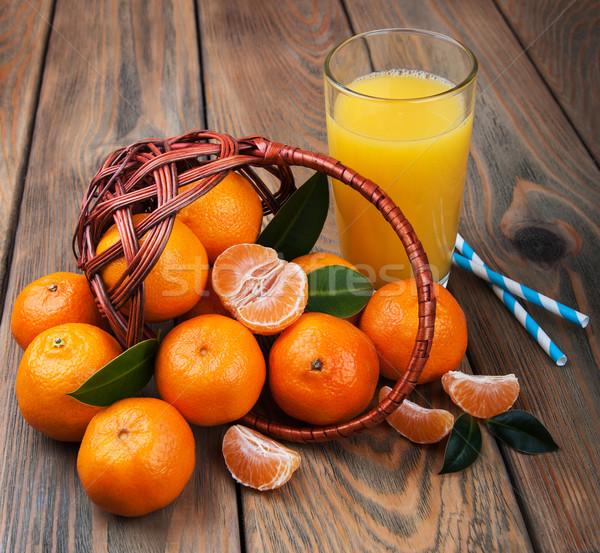 新鮮な 柑橘類 ジュース オレンジ 古い 木製のテーブル ストックフォト © Es75