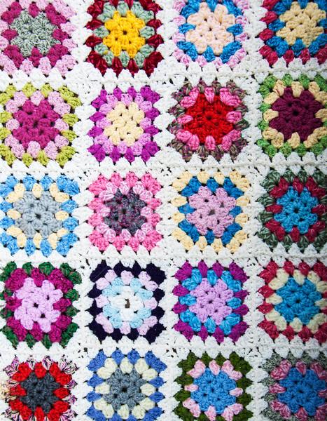 Pléd nagyi négyzetek otthon textúra absztrakt Stock fotó © Es75