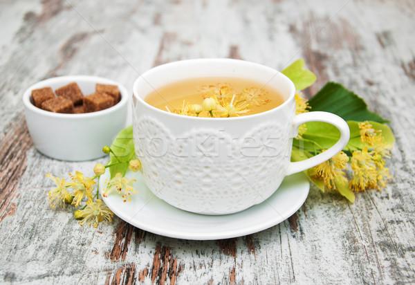 Copo chá medicinal flores velho Foto stock © Es75