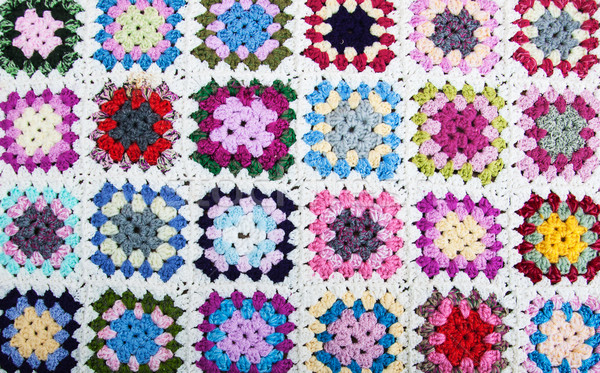 blanket made of granny squares Stock photo © Es75