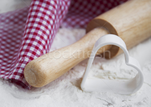 Flour and rolling pin Stock photo © Es75