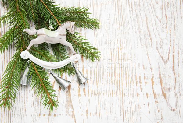 Natal decoração árvore de natal ramo árvore abstrato Foto stock © Es75