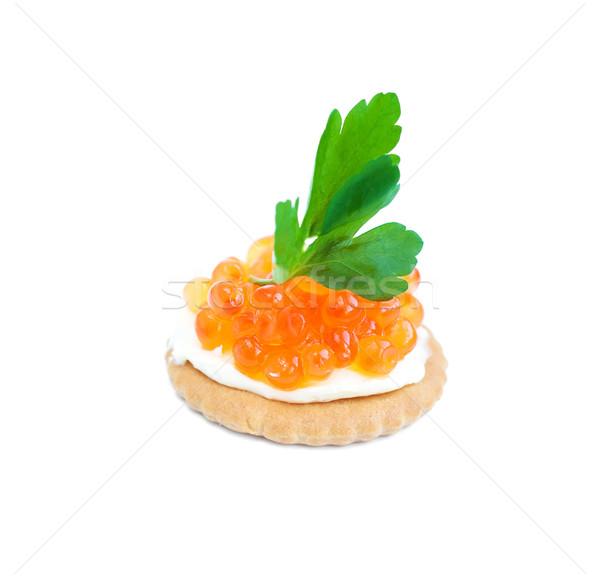 キャビア 鮭 赤 白 パン 朝食 ストックフォト © Es75