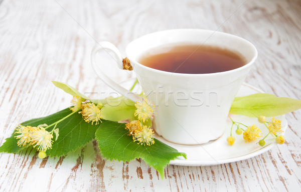 cup of tea and linden flowers Stock photo © Es75
