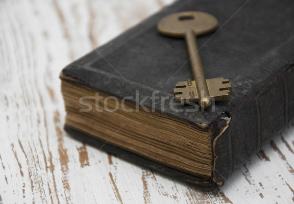 antique book and  old key Stock photo © Es75
