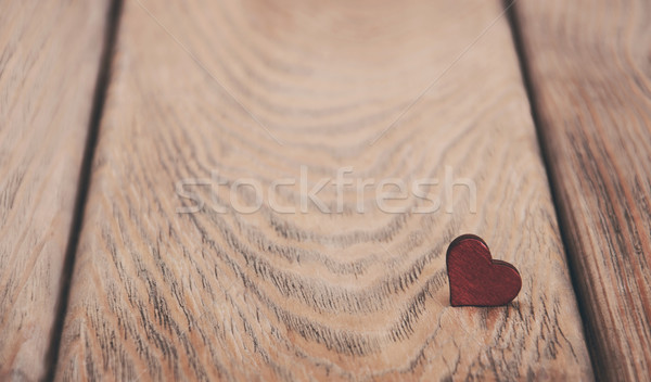 Heart on a wooden background - vintage toning Stock photo © Es75