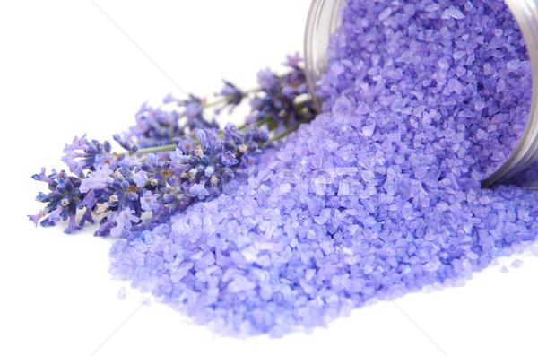 lavender bath salt Stock photo © Es75