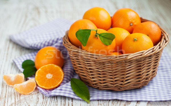 Tangerine with segments Stock photo © Es75