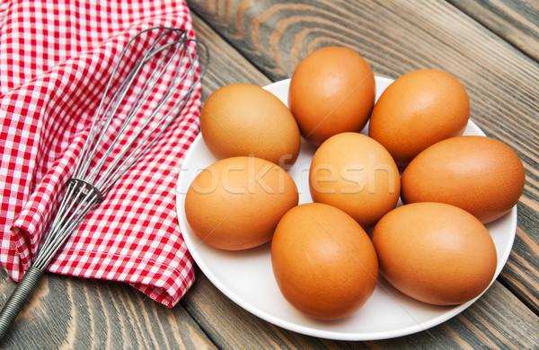 Huevos batidor edad alimentos naturaleza Foto stock © Es75