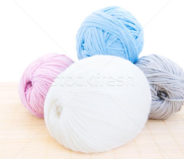 Hilados cuatro blanco hombre textiles Foto stock © Es75