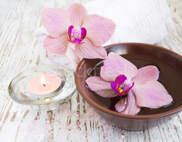 Orchids and candle Stock photo © Es75