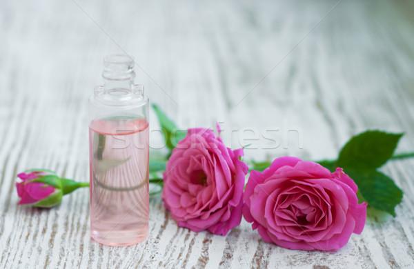 бутылку розовый роз закрывается красоту Сток-фото © Es75