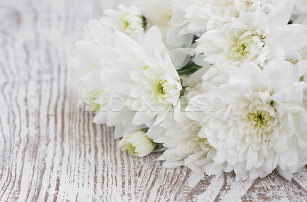白 菊 花束 木製 花 春 ストックフォト © Es75