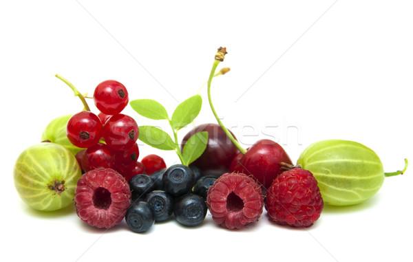 Сток-фото: свежие · Ягоды · белый · продовольствие · природы · лист