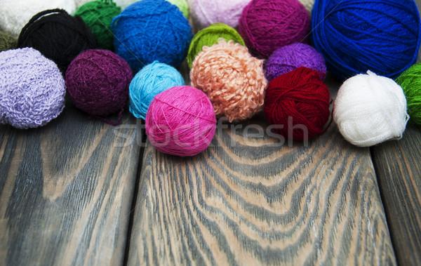 Kolor wełniany moda projektu Zdjęcia stock © Es75