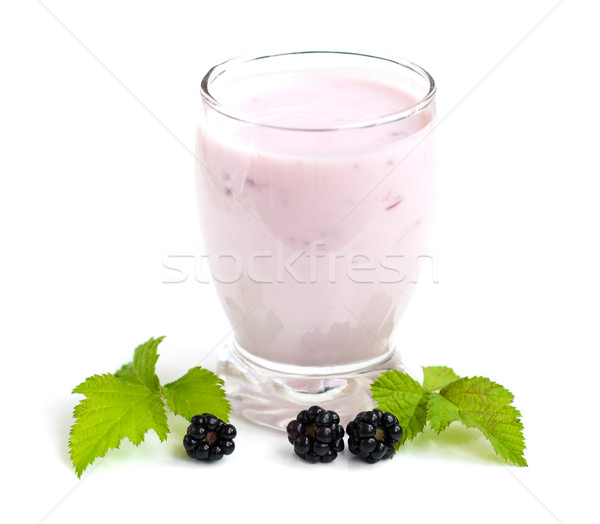 Blackberry yogurt Stock photo © Es75