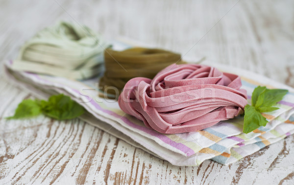тальятелле итальянский пасты продовольствие спагетти Сток-фото © Es75