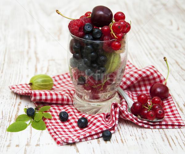 Сток-фото: свежие · Ягоды · продовольствие · природы · лист