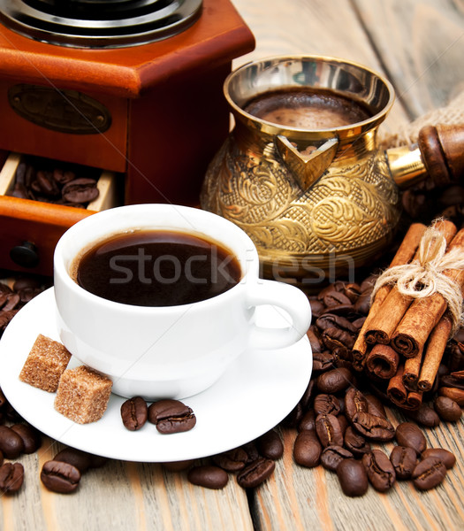 coffee cup and metal turk Stock photo © Es75