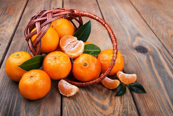 Stock photo: Juicy orange tangerines