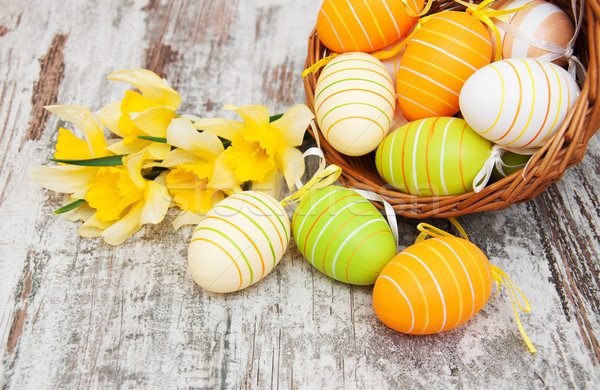 Basket with easter eggs Stock photo © Es75