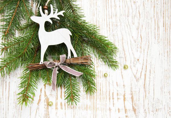 Natal decoração árvore de natal ramo veado árvore Foto stock © Es75