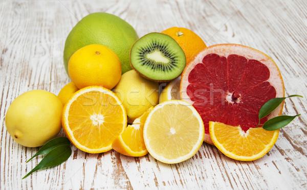 Frutti variazione foglie tavola alimentare Foto d'archivio © Es75