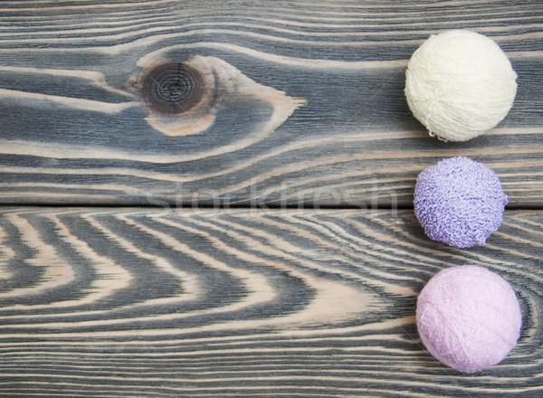 Kleur wollen houten mode home Stockfoto © Es75