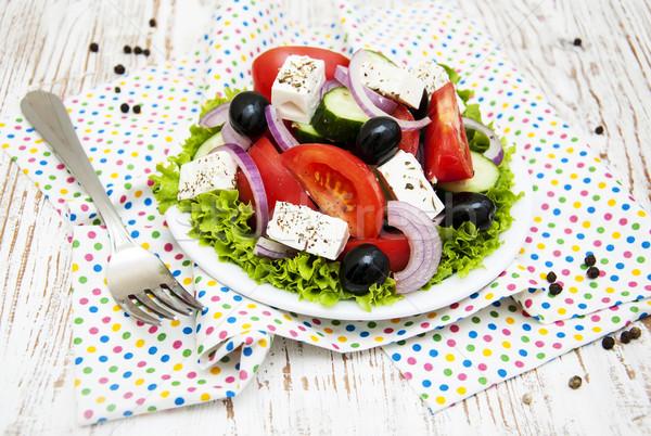 Stock photo: Fresh Greek salad
