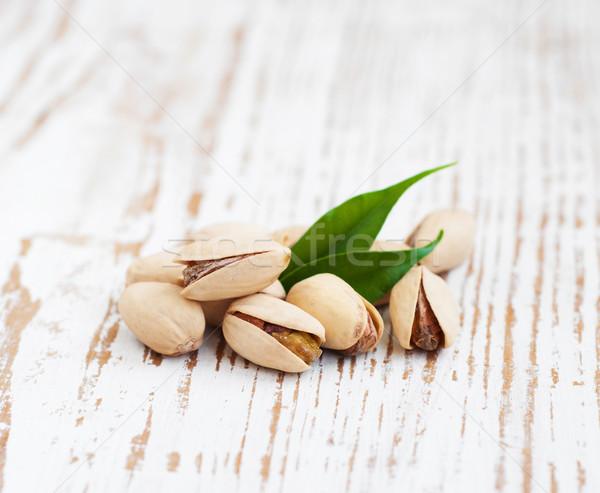 Levelek fából készült étel egészség zöld kagyló Stock fotó © Es75