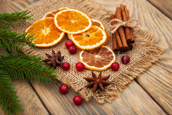 Spices and dried oranges Stock photo © Es75