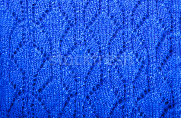 blue knitted fabric texture Stock photo © Es75
