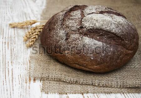 Pan pan trigo rústico naturaleza cocina Foto stock © Es75