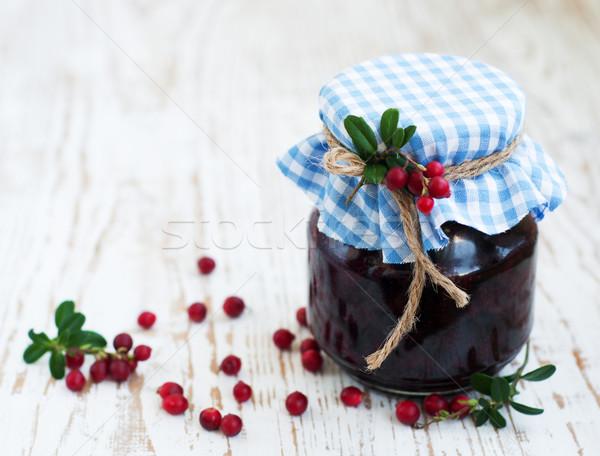 jar of cranberries jam Stock photo © Es75