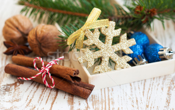 Natale decorazione legno inverno regalo celebrazione Foto d'archivio © Es75