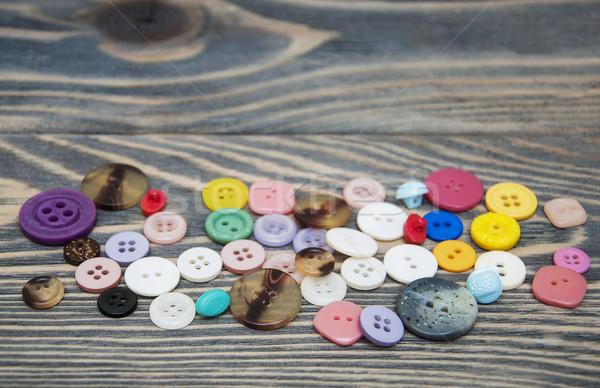 Cucire pulsanti mista legno legno moda Foto d'archivio © Es75