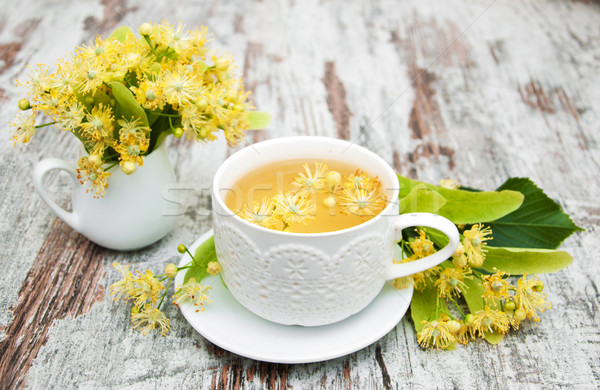 cup of herbal tea with linden flowers Stock photo © Es75