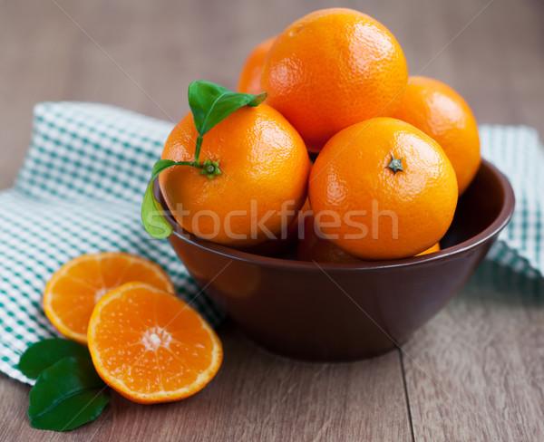 タンジェリン ボウル 新鮮な 自然 甘い 健康 ストックフォト © Es75