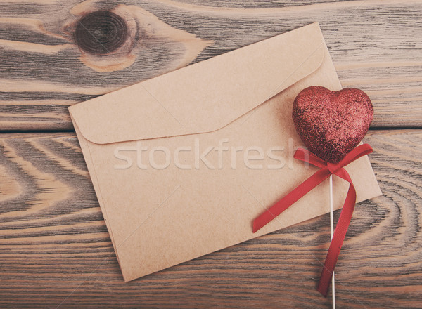 Envelope with heart - vintage toning Stock photo © Es75