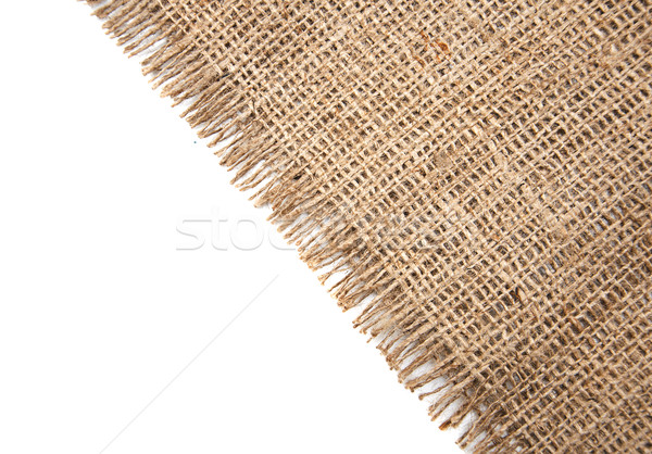 sacking clothe on white Stock photo © Es75